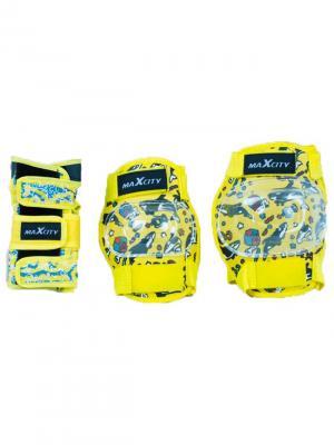 Роликовая защита FISH MAXCITY. Цвет: желтый, голубой