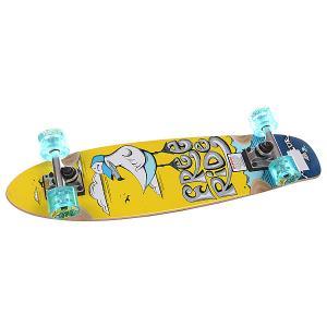 Скейт мини круизер  Freebird Complete Multi 7.5 x 29 (73.6 см) Freeride. Цвет: желтый,голубой