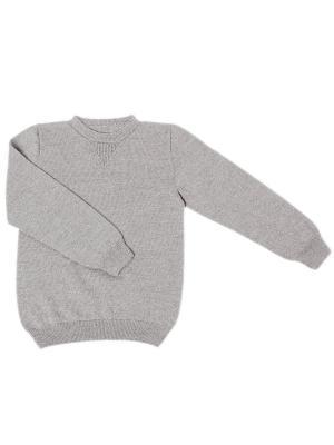 Пуловер R&I. Цвет: светло-серый