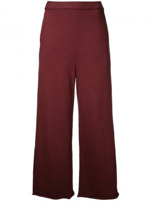 Укороченные широкие брюки Cityshop. Цвет: красный