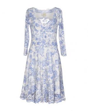 Платье до колена OLVI'S. Цвет: синий