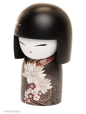 Кукла-талисман со стразами Тацуми Kimmidoll. Цвет: серо-коричневый, черный