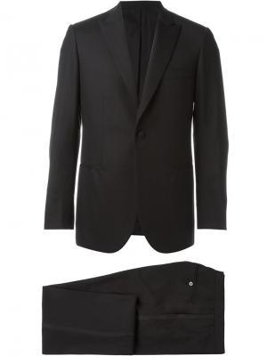 Деловой костюм-двойка Brioni. Цвет: чёрный
