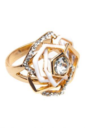 Кольцо BELLA ROSA. Цвет: gold, white