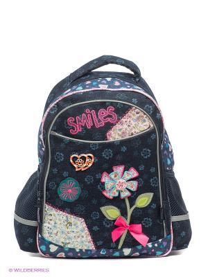 Рюкзак SMILES Centrum. Цвет: темно-синий, розовый