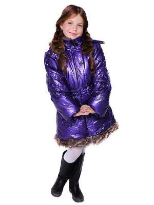 Пальто VELFI. Цвет: фиолетовый