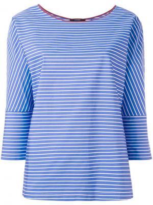 Полосатая блузка Odeeh. Цвет: синий