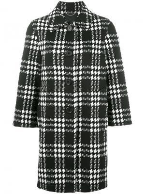 Жаккардовое пальто в клетку Marc Jacobs. Цвет: чёрный