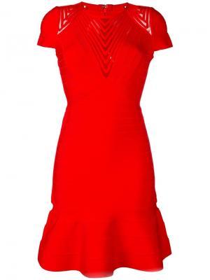 Hillary dress Hervé Léger. Цвет: красный