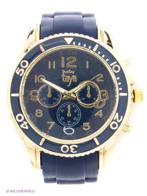 Часы Taya. Цвет: темно-синий, золотистый