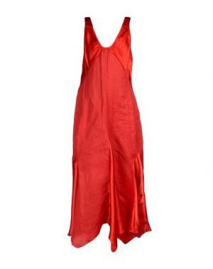 Платье длиной 3/4 GERANI. Цвет: кирпично-красный