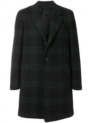 Пальто в клетку Caruso. Цвет: чёрный