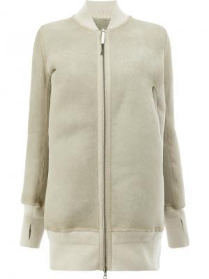 Свободное пальто в стиле толстовки Isaac Sellam Experience. Цвет: телесный