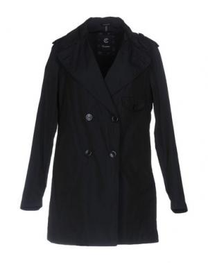 Легкое пальто CALVARESI. Цвет: темно-синий