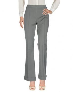 Повседневные брюки ELIE TAHARI. Цвет: серый