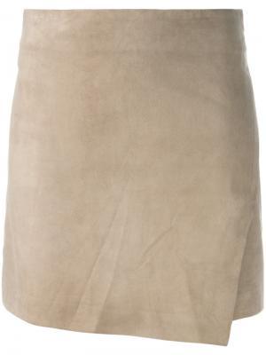 Облегающая мини-юбка Eleventy. Цвет: коричневый