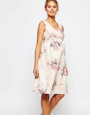 ASOS Maternity Платье для выпускного беременных. Цвет: мульти