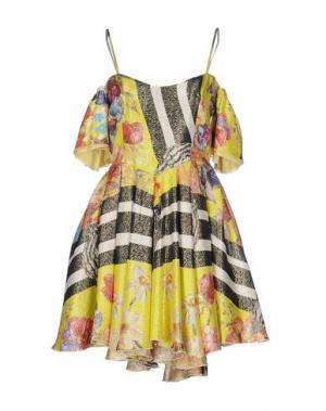 Короткое платье LEITMOTIV. Цвет: кислотно-зеленый