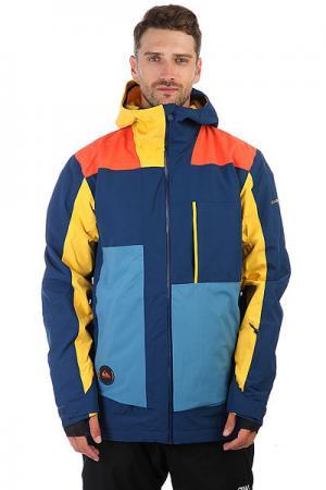 Куртка утепленная  Sycamore Vallarta Blue Quiksilver. Цвет: желтый,синий,оранжевый