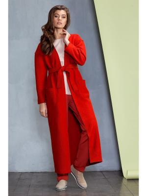 Пальто RUXARA. Цвет: терракотовый