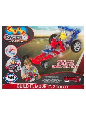 Подвижный конструктор  с колесами ZOOB Dragster 12054. Цвет: красный, серый, синий, черный