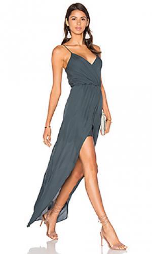Вечернее платье jones Rory Beca. Цвет: темно-зеленый