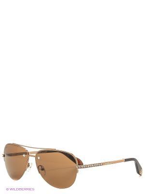 Солнцезащитные очки BLD 1614 101 Baldinini. Цвет: золотистый, коричневый
