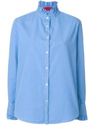 Рубашка с рюшами The Gigi. Цвет: синий