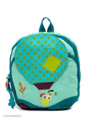 Собачка Джеф: рюкзачок маленький Lilliputiens. Цвет: бирюзовый, салатовый, бордовый, голубой