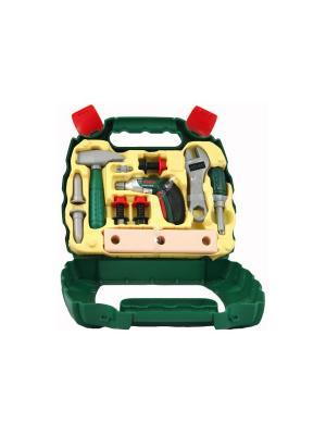 Набор игрушечных инструментов в чемодане BOSCH KLEIN. Цвет: зеленый