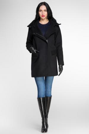 Пальто из шерсти и кашемира с воротником 136916 Diego M. Цвет: черный