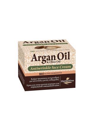 Арганойл крем для лица против морщин нормальной и комбинированной кожи, 50мл Madis S.A.. Цвет: светло-коричневый