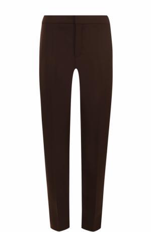 Укороченные брюки прямого кроя Chloé. Цвет: темно-коричневый