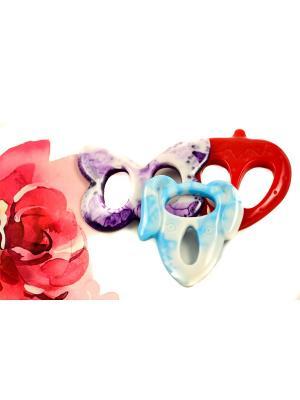 Пряжка Волшебная пуговица для шейного платка madam Пряжкина. Цвет: морская волна, красный, темно-фиолетовый