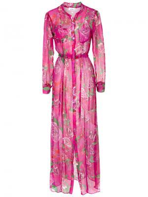 Накидка с принтом роз Amir Slama. Цвет: розовый и фиолетовый