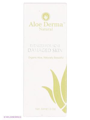 Гель для восстановления поврежденной акне кожи Aloe Derma. Цвет: прозрачный