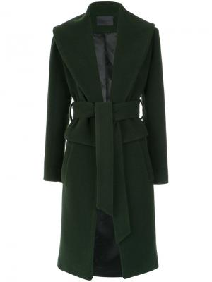 Wool coat Giuliana Romanno. Цвет: зелёный