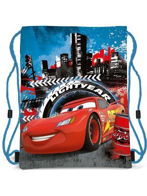 Сумка-рюкзак для обуви Cars. Цвет: голубой, красный, черный