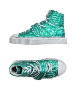 Высокие кеды и кроссовки GIENCHI. Цвет: зеленый