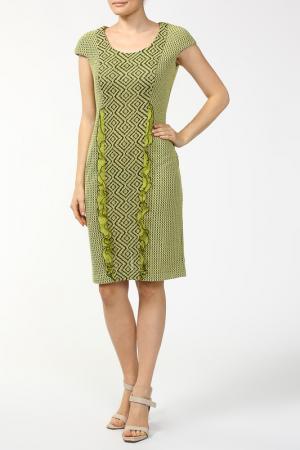 Платье Yellow Cat. Цвет: зеленый