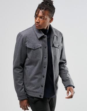ADPT Шерстяная куртка. Цвет: серый