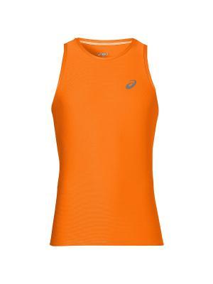 Футболка SINGLET ASICS. Цвет: оранжевый