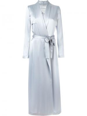 Длинное платье с поясом Galvan. Цвет: серый