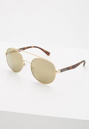 Очки солнцезащитные Emporio Armani. Цвет: золотой