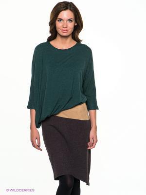 Платье МадаМ Т. Цвет: зеленый, коричневый, темно-бежевый