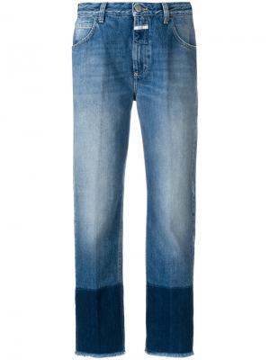 Укороченные джинсы с контрастными манжетами Closed. Цвет: синий