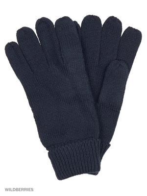 Перчатки Oodji. Цвет: темно-синий