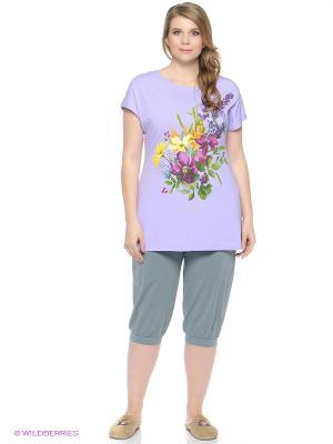 Пижама PELICAN. Цвет: серо-зеленый, сиреневый
