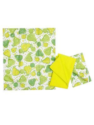 Комплект полотенец ZLATA KORUNKA. Цвет: зеленый