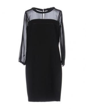 Короткое платье SILK AND SOIE. Цвет: черный